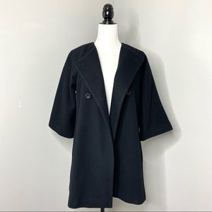 Club Monaco Spring Double Breasted Wool Coat XS